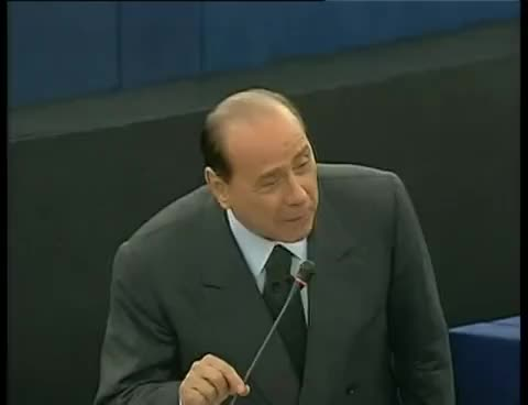 Watch and share La Figuraccia Di Berlusconi Al Parlamento Europeo GIFs on Gfycat