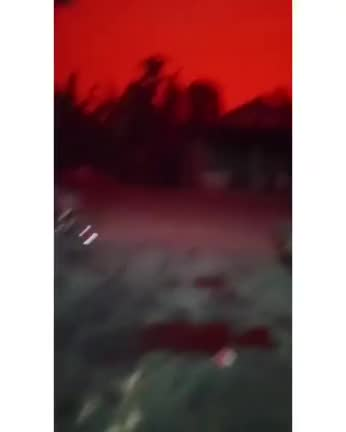 Watch and share A Strange Phenomenon Where The Sky Turns Red Happened In Indonesia GIFs on Gfycat
