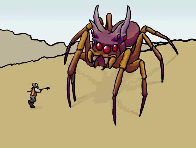 Watch and share Savanna Titan Spider By Nausved GIFs on Gfycat