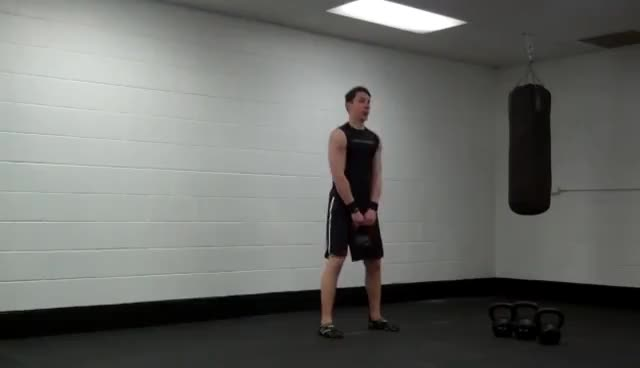 37 modified waiters grip kettlebell squat GIFs