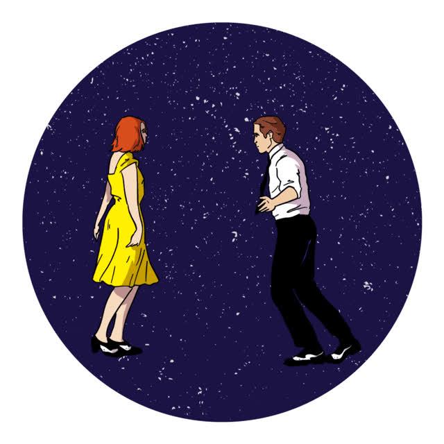 cartuna, dance, dancing, emma stone, la la land, ryan gosling, La La Land Dance GIFs
