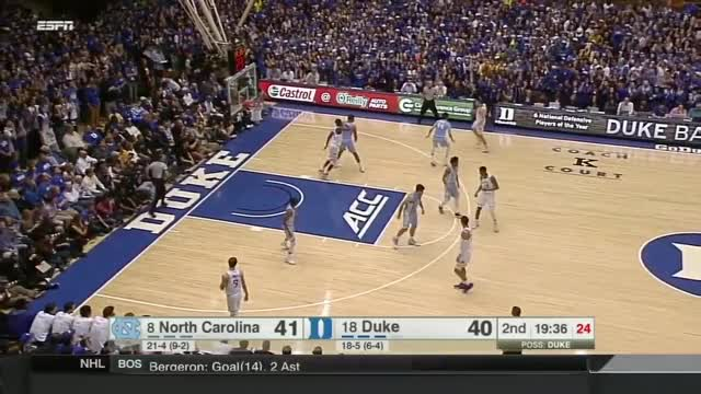 Watch and share North Carolina Vs Duke Blue Devils Basketball 2017 (Feb. 09) GIFs on Gfycat