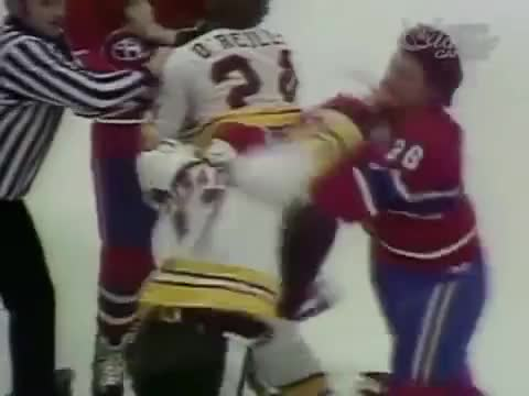 Watch this trending GIF by The Livery of GIFs (@thegifery) on Gfycat. Discover more Boston, Bruins, Gilles, John, Jonathan, NHL, PIERRE, STAN, bouchard, canadiens, fight, fights, hockey, lupien, montreal, wensink GIFs on Gfycat
