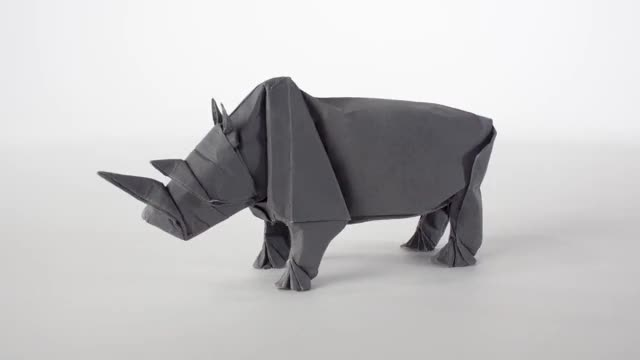 Watch and share Sipho Mabona: Origami Rhino Unfolding GIFs on Gfycat