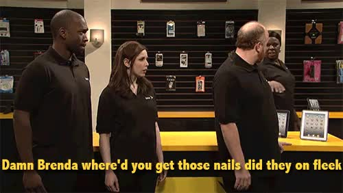 louis ck, on fleek, saturday night live, snl, Damn Brenda where'd you get those nails did, they on fleek. GIFs