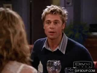 Watch and share Brad Pitt Friends GIFs on Gfycat