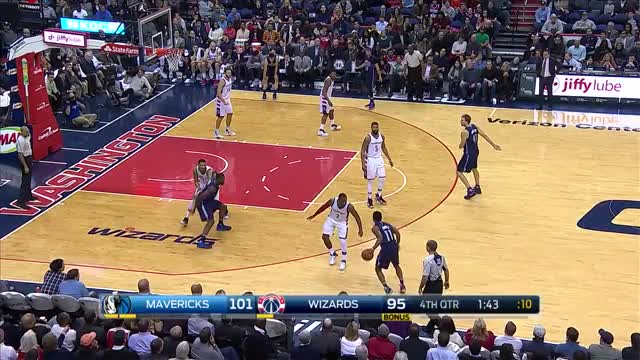 Watch and share Dirk Nowitzki Dagger 3 Pointer Vs Wizards GIFs by dirk41 on Gfycat