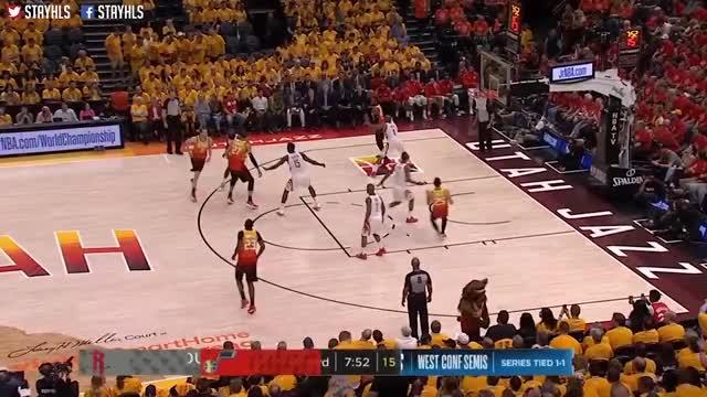 Utah Split the Post (2018 Playoff R2-G3)