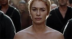 Cersei Lannister, Lena Headey, cersei lannister, game of thrones, got, gotedit, lena headey, shame, SHAME! GIFs