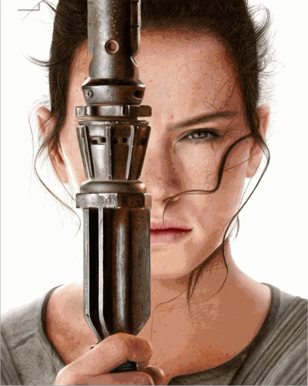 Watch Rey_Poster_vs_drawing GIF on Gfycat. Discover more starwars GIFs on Gfycat