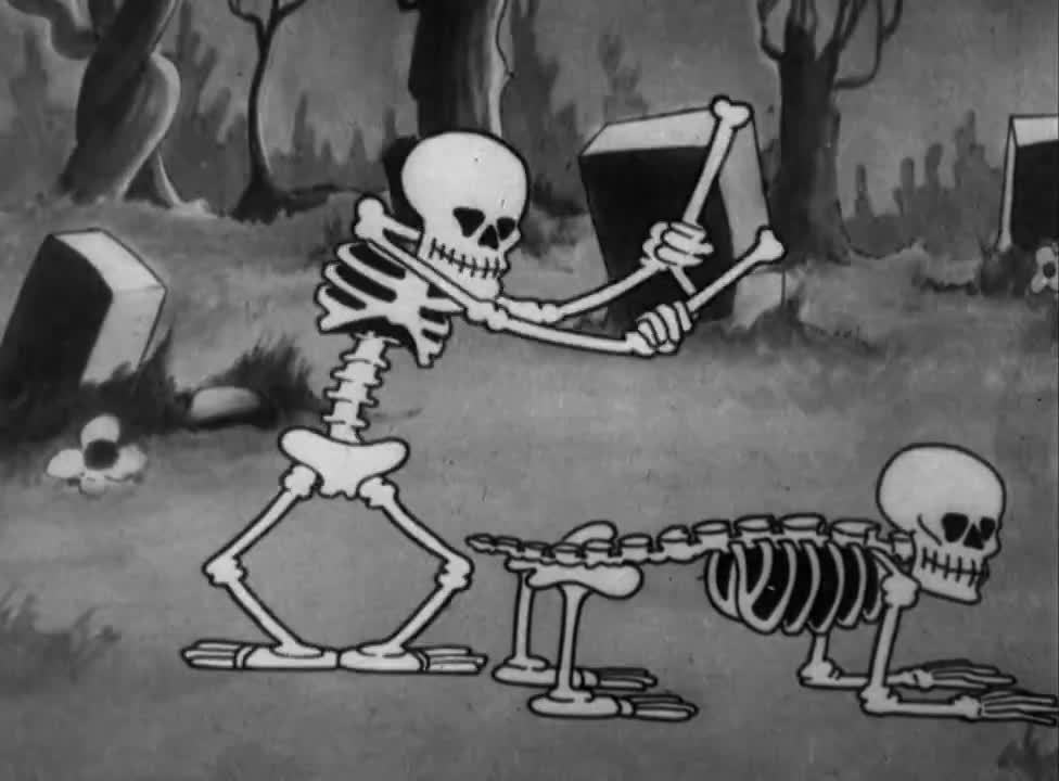 Mickey, Silly Symphonies (Film Series), weakpots, Disney Shorts (HD) - 1929 - Silly Symphony: The Skeleton Dance GIFs