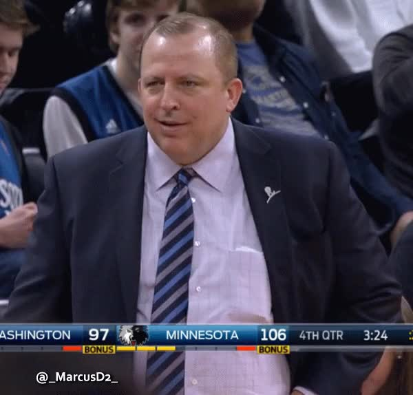 Watch and share Tom Thibodeau Cracks A Smile GIFs by MarcusD on Gfycat