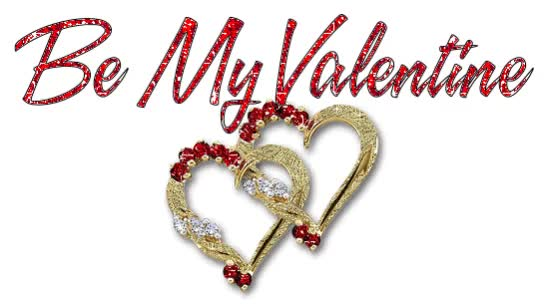 Watch and share Happy Valentine Day: Glittering Hearts GIFs on Gfycat