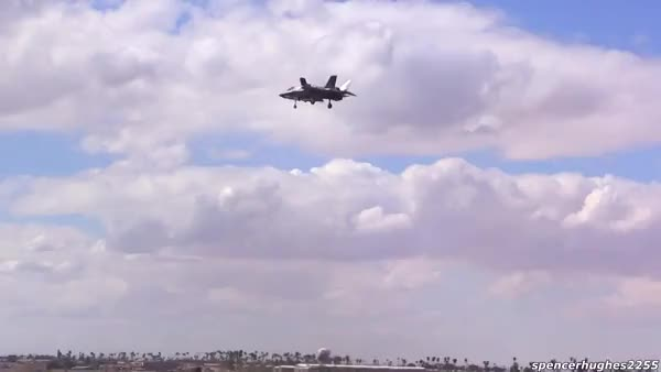Watch and share F-35 Hovers At Yuma Air Show GIFs on Gfycat