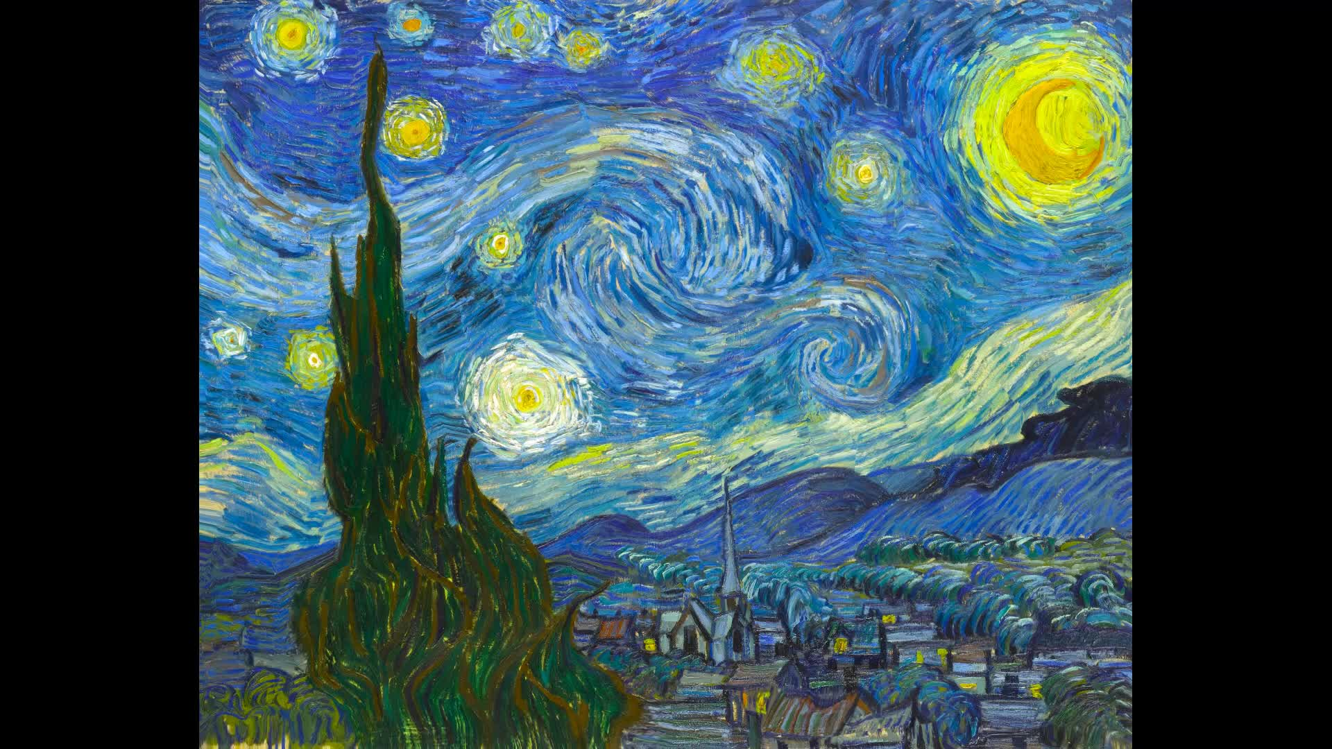 animation, art, mirage, the starry night, vincent van gogh, The Starry Night GIFs