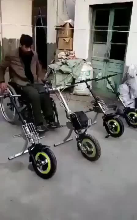 This awesome wheelchair attachment