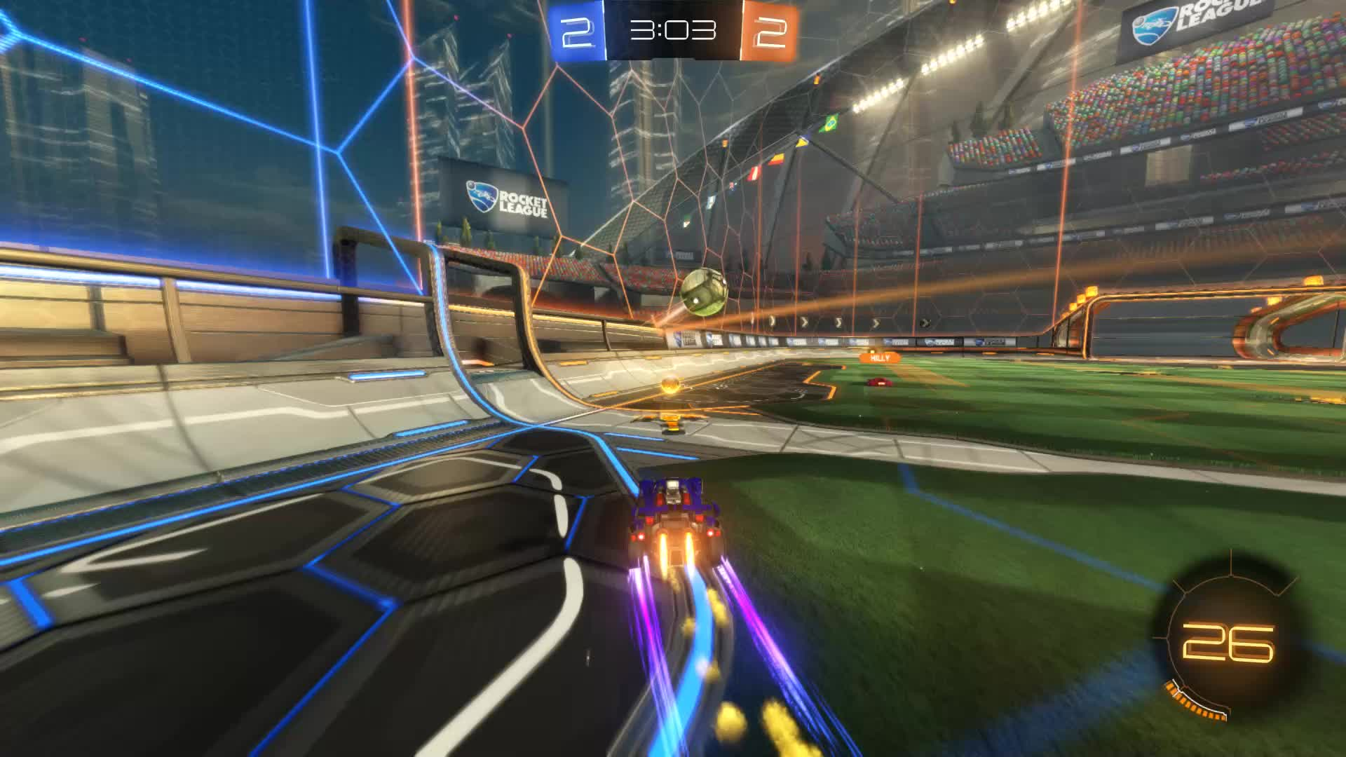 Assist, Gif Your Game, GifYourGame, Rocket League, RocketLeague, Squash, Assist 3: Squash GIFs