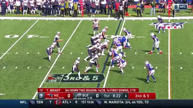 Watch and share 6 Brady To White 26yd GIFs on Gfycat