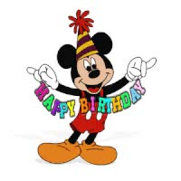 Watch and share Happy Birthday Mickey Mouse Photo: HB/MM Mickey-Mouse-Happy-Birthday.gif GIFs on Gfycat