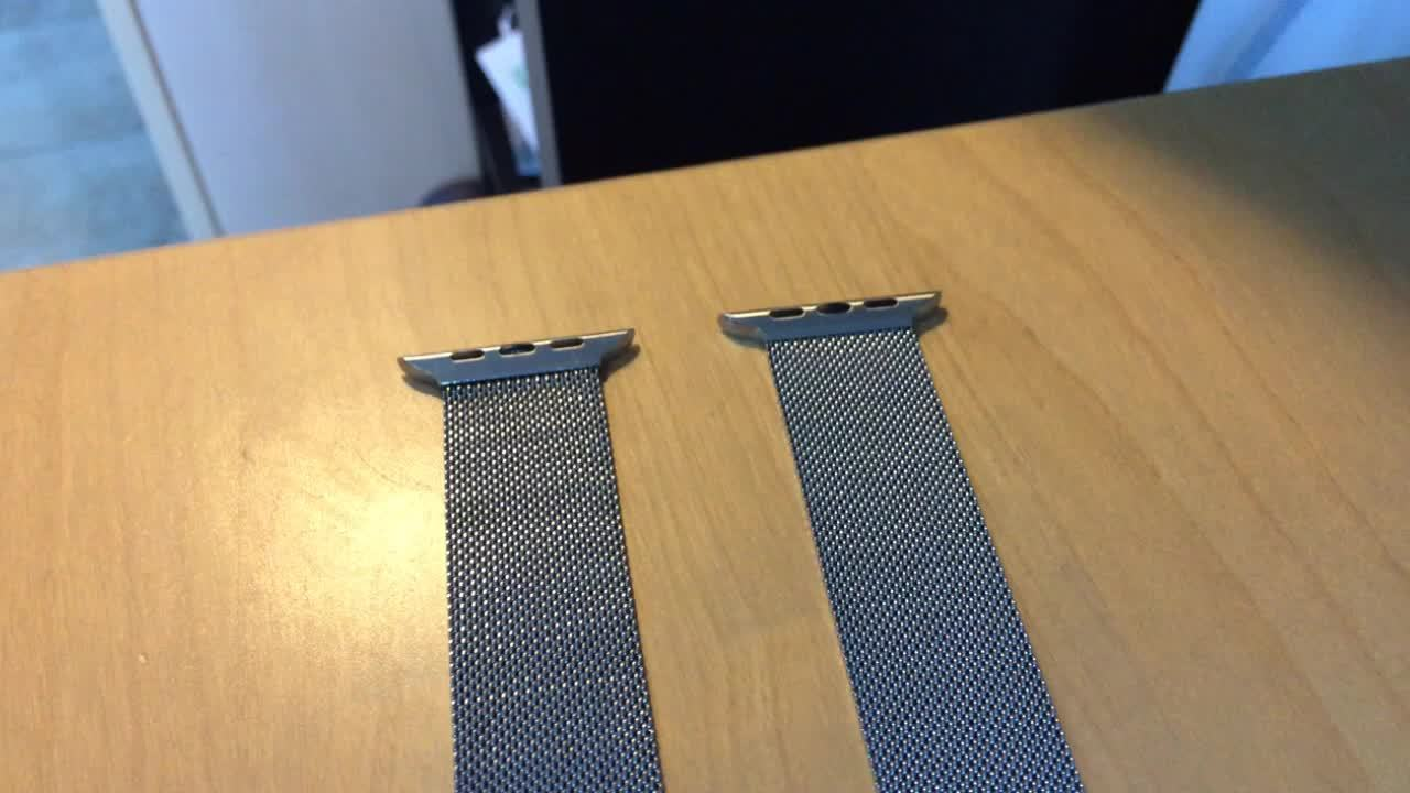 AppleWatch, applewatch, Comparison of Apple Milanese Loop and Third Party GIFs