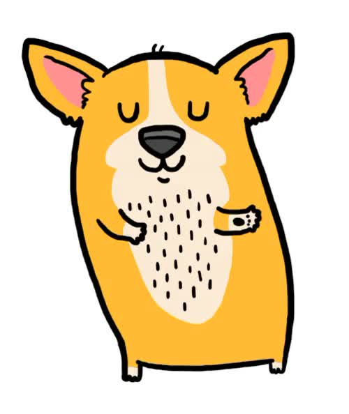 Watch and share Click The Link To See The Wiggle XD  YAY!! HAPPY CORGI DANCE!!  Love The Butt Wiggle. GIFs on Gfycat