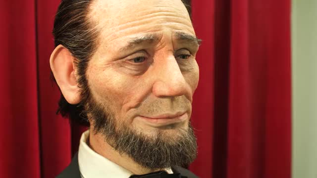 Watch this trending GIF on Gfycat. Discover more abraham lincoln, animation, animatronics, disney, garner holt, realistic, robotics, robots, tested, testedcom GIFs on Gfycat