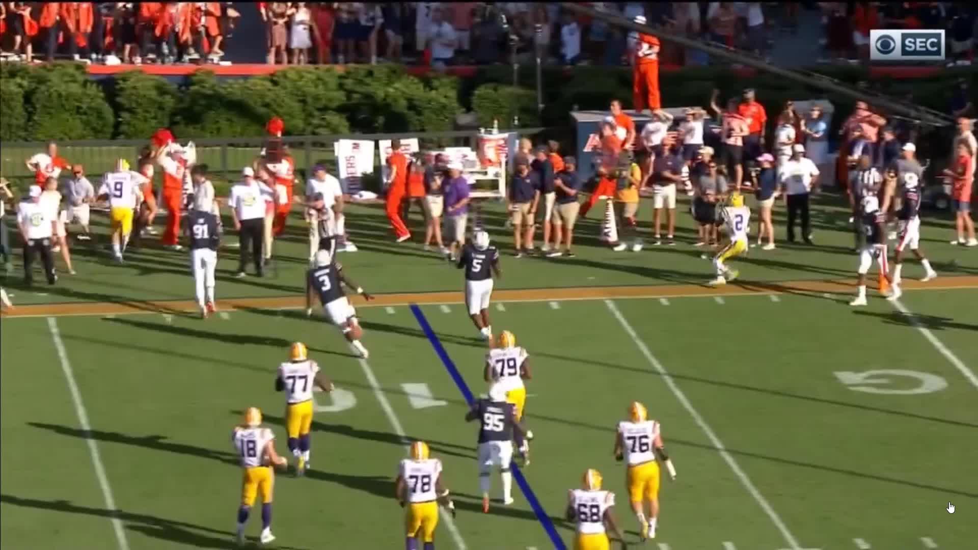 auburn, cfb, football, lsu, CFB 2018 - Louisiana State @ Auburn: Fence Flip GIFs