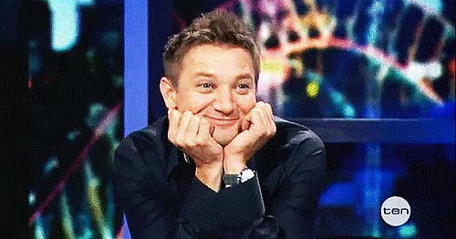 Watch and share Jeremy Renner GIFs and Giddy GIFs by Reactions on Gfycat