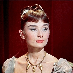 *, 1950s, audrey hepburn, look at this doll face, my gifs, she's so fidgety lmao, war and peace, audrey hepburn is my aesthetic GIFs