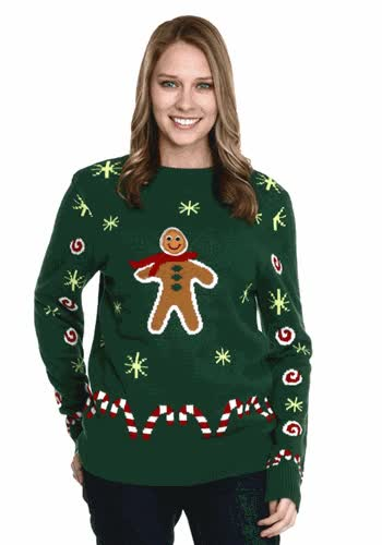 Watch and share Gingerbread Cookie Christmas Sweater GIFs on Gfycat