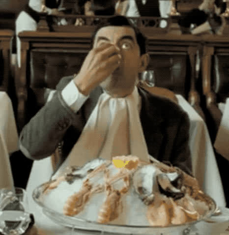 day, funny, happy, mr bean, national, oyster, rowan atkinson, seafood, National Oyster Day GIFs