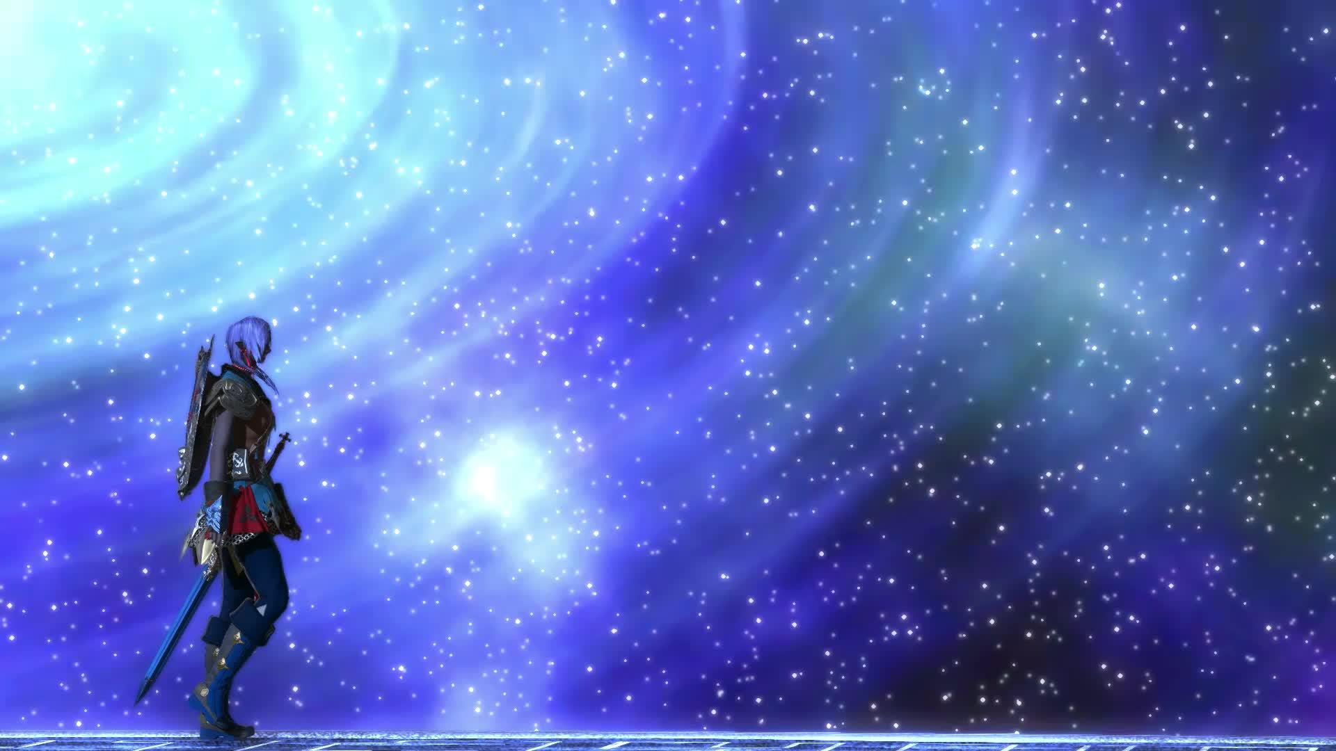 FFXIV, Final Fantasy, Stars, Video games, galaxy, walking, FFXIV Anime Like EP GIFs