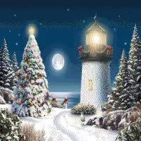Watch and share Lighthouse Merry Christmas Emoticon Emoticons Animated Animation Animations Gif GIFs on Gfycat