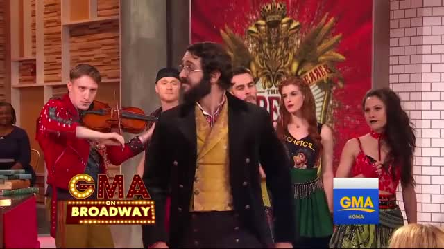 Watch NATASHA PIERRE AND THE GREAT COMET OF 1812 (Broadway) - ProloguePierre [LIVE @ GMA] GIF on Gfycat. Discover more related GIFs on Gfycat
