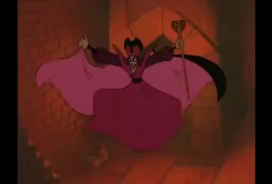Watch Jafar's female disguise GIF on Gfycat. Discover more Aladdin, Disney, animation, disguise, jafar, shapeshift, transformation GIFs on Gfycat
