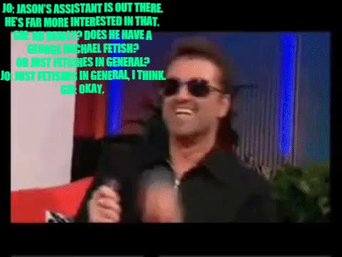 Watch and share George Michael GIFs and Jo Whiley GIFs by For Barbara on Gfycat