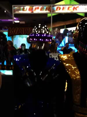 Watch and share Daft Punk Cosplay GIFs and Comic Con 2015 GIFs on Gfycat