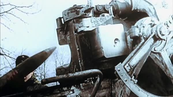 combatfootage, Colorized footage of 88mm flak guns being employed in the ground role (reddit) GIFs