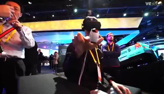Watch and share The Year VR Took Over CES 2017 GIFs on Gfycat