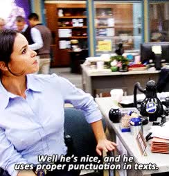 Watch and share Melissa Fumero GIFs and Texting GIFs on Gfycat