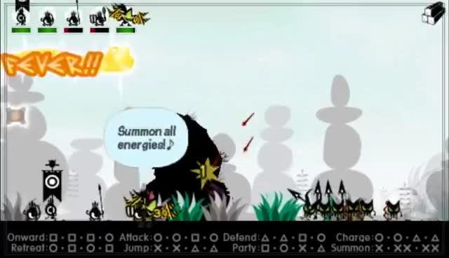 Watch and share Patapon 3 Heroes:  All Classes (Taterazay/Shield, Yarida/Spear, Yumiyacha/Arrow) GIFs on Gfycat