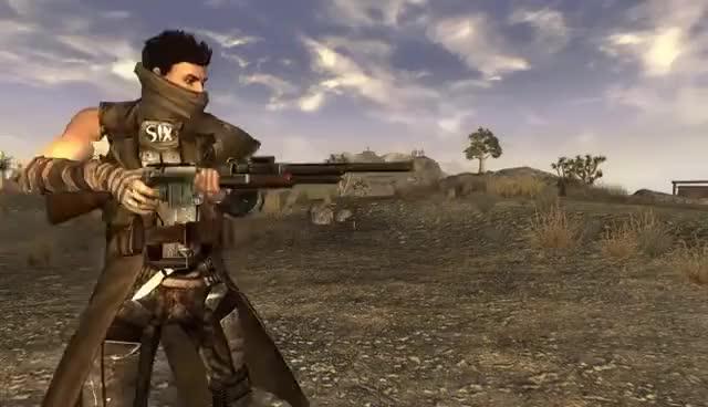 Watch and share Mod Spotlight: Bolt Action Shotgun (Fallout: New Vegas) GIFs on Gfycat