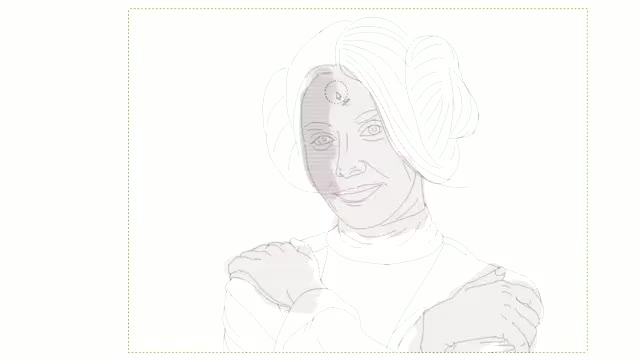 Watch and share Allison Brie As Leia Speedpaint GIFs on Gfycat