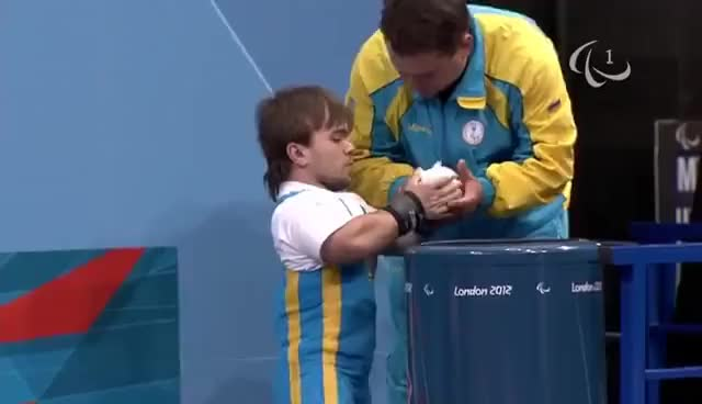 Watch Powerlifting - Men's -48 kg - London 2012 Paralympic Games GIF on Gfycat. Discover more related GIFs on Gfycat