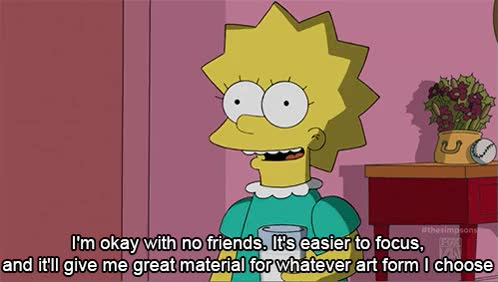 Watch and share Tags: Simpsons The Simpsons Lisa Lisa Simpson Lol Gif Television Friends Socially Awkward Over GIFs on Gfycat