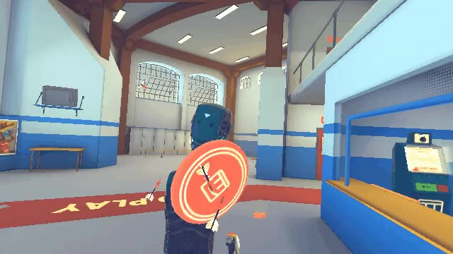Watch Frisbee Physics GIF by awesomenick94 on Gfycat. Discover more Funny, Rec Room, VR GIFs on Gfycat