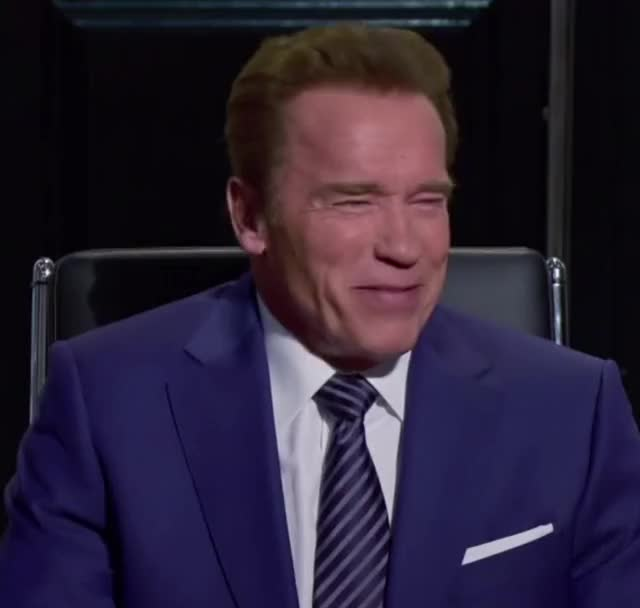 Watch and share Arnold Schwarzenegger GIFs and Laughing GIFs by Richard Rabbat on Gfycat