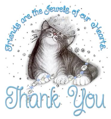 Watch and share Thank You Friends Are The Jewels Of Our Hearts Sparkle Cat THANK YOU For All The Lovely Images GIFs on Gfycat
