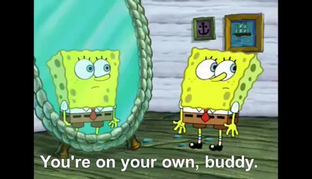 Watch and share Spongebob Squarepants- You're On Your Own, Pal GIFs on Gfycat