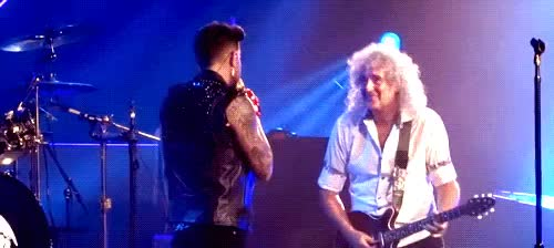 Watch Umm GIF on Gfycat. Discover more 2014, adam lambert, brian may, just making up some shit, mine, my favorite people, on Brian's birthday, queenbert, uncasville 1, vocal solo GIFs on Gfycat